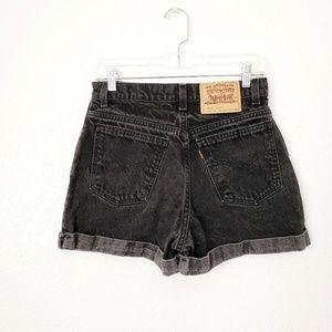 Levi's Vintage Orange Tab Black High Rise Shorts